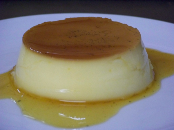 Turned out Creme Caramel