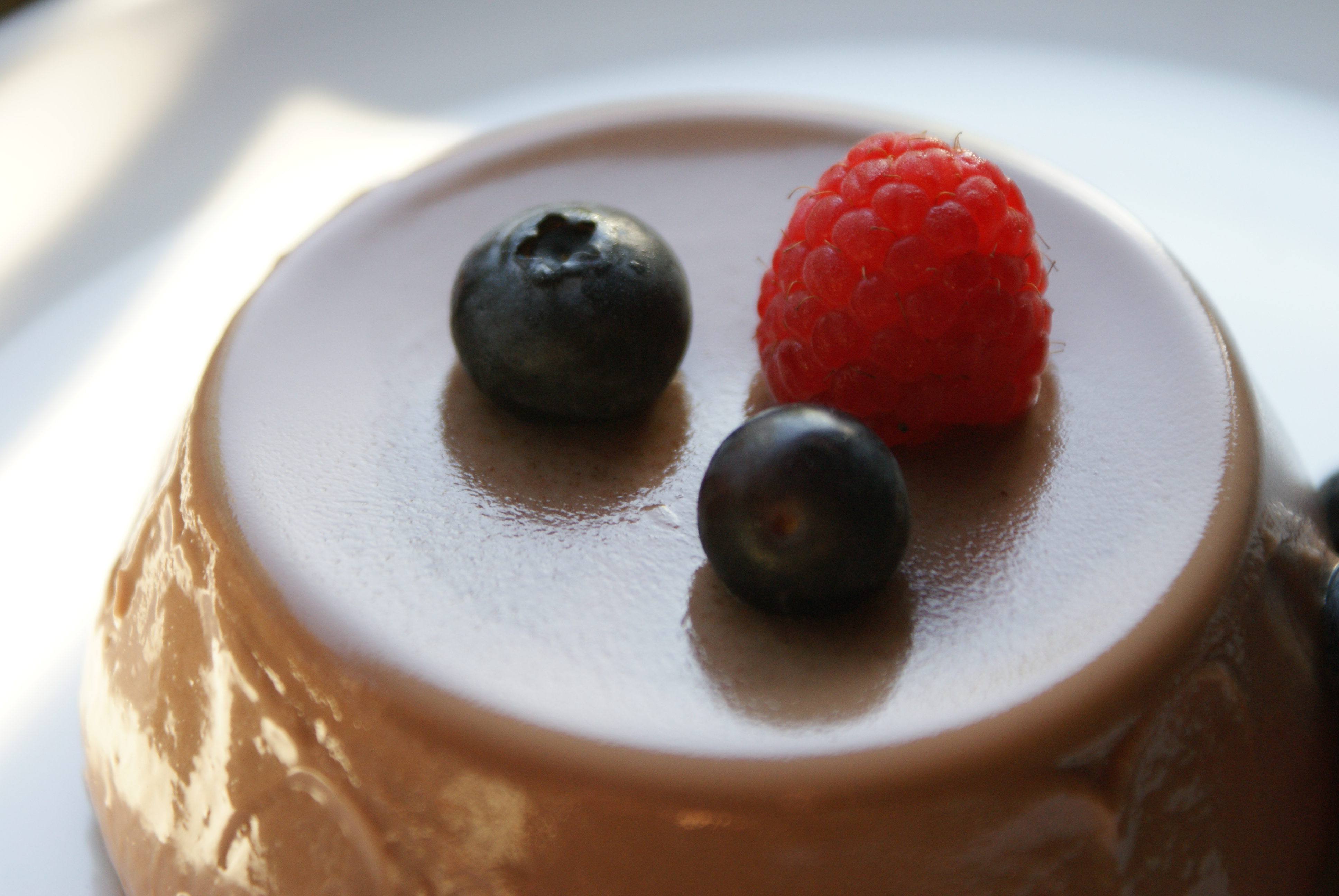 Chocolate Panna Cotta… (Originally by Donna Hay) (Serves 4)