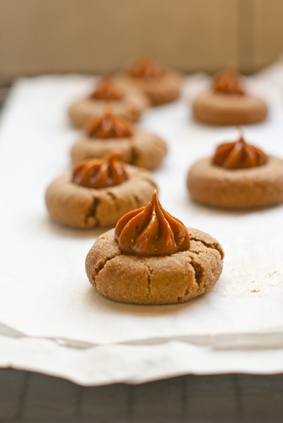 Ginger Thumbprint Cookies with Dulce de Leche… | Chocswirl